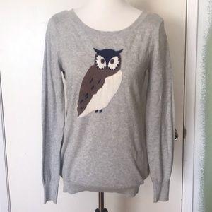Old Navy Gray Owl Lightweight Sweater Medium